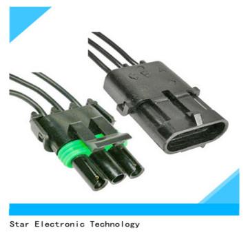 Factory Price Auto 3 Pin Electronic Delphi Male Female Wire Harness Connector