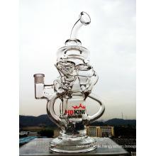Schöne Großhandel Spiral Recycler Glas Wasser Rohr