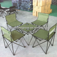 Nouveau design, table de camping, pliante toile camping ensemble