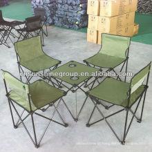 Novo design dobrável mesa de campismo, acampamento conjunto de lona