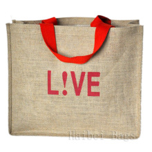 Jute Fabric Shopping Bags (hbjh-15)