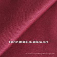 Spandex de algodón tela cruzada teñida pantalones tejido tejido