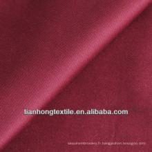 Coton sergé Spandex teints pantalon tissé de tissu extensible