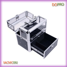 Crocodile PVC and Acrylic Vanity Box Easy Carry Nail Beauty Box (SACMC092)