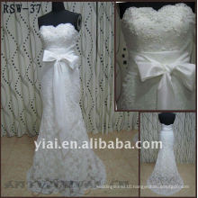 RSW-37 YIAI Popular Factory Outlet Customed Beautiful Lace And Pearl Ladies Fashion Wedding dress