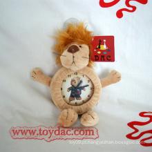 Relógio de pelúcia brinquedo brinquedo relógio de leão