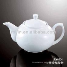 Gesundes haltbares weißes Porzellan-Ofen sicherer Krug mit Deckel