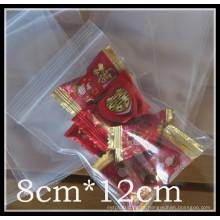 Pe saco de plástico zip para doces