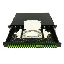 24 Cores SC Rack Mount  Fiber Optic Patch Panel Termination Box