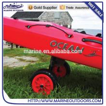 Sentado de aluminio en la parte superior Kayak canasta Scupper carrito Dolly Carrier Trolley