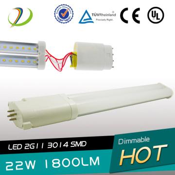 UL Listed 22W 2G11 Led Tube Light