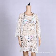 vêtements de plage robe caftan crochet bohème vêtements de plage