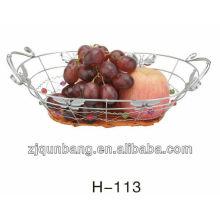 Cesta de frutas de rattan borboleta oval