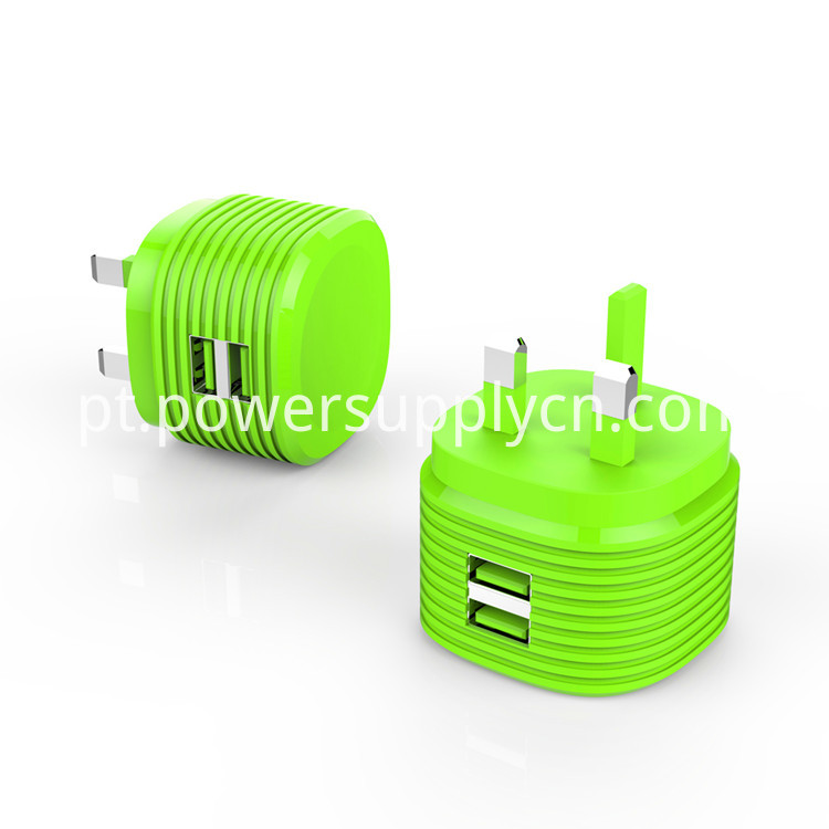UK plug 5V2.4A dual USB phone charger