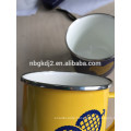 carbon steel enamel coating mug with OEM design high quality for europe