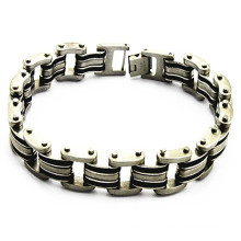 Popular stainless steel infinity personalized bracelets cheap for mens