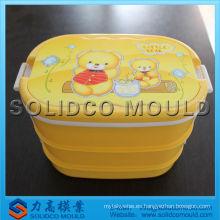 Molde desechable de plástico para caja de almuerzo