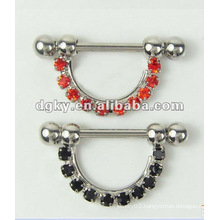 Nipple Barbell Piercing Diamond Nipple Jewelry