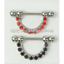 Mamadeira Barbell piercing Diamond Nipple Jóias