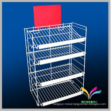 Black 4 tiers Metal wire snack display racks