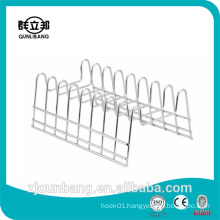 Eight grids metal kitchen utensil rack