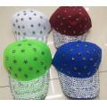 Moda personalizada Strass cristal 6-panel de béisbol cap sombrero