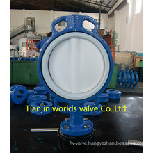 PTFE Coating Wafer Butterfly Valve (D71X-10/16)