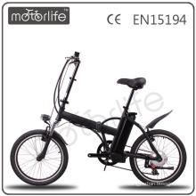 MOTORLIFE EN15194 2015 vente chaude 36 V 250 w 20 pouces fanzhou ebike