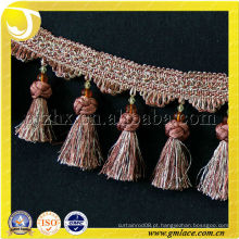 Moda Wholesale Handmade Beaded Trimmings Fringes Gold Cotton Lace Trim