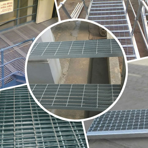 galvanized grating treads