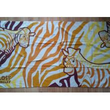 (BC-BT1020) Serviette de plage colorée en carton 100% velours