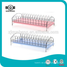 Single Tier Wire Dish Rack mit Kunststoff Tablett