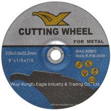 Proveedor de oro China 9 pulgadas Abrasive Grinding Cutting Wheels