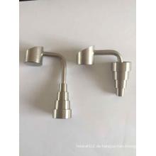 Fabrik Preis 10/14 / 18mm Einstellbare oben und unten neue Design Titan Nagel für Glas Wasser Rohr