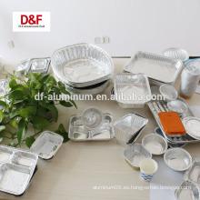 Contenedor desechable de aluminio