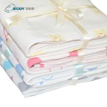 Мягкие защитные детские хлопковые многослойные одеяла с капюшоном