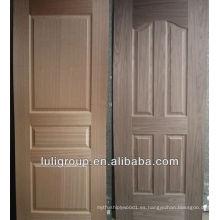 Piel de puerta HDF enchapada en nogal cerezo y negro
