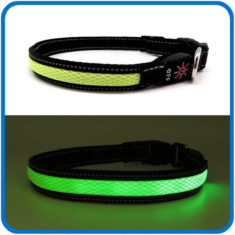 Adjustable Nylon Led Rechargeable Dog Collar