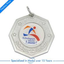Supports d'estampage en alliage de zinc de haute qualité Souvenir Schulsport Running Medal with Impressed Paster