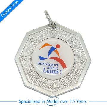 Aleación de zinc de alta calidad estampando recuerdo Schulsport Running Medal con Paster impreso