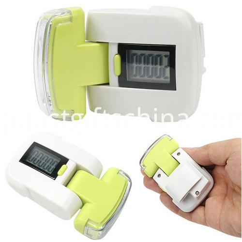 Promotional ABS Pedometer W/ 3LED Lights