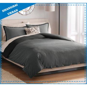 Gray Shades Reversible Cotton Duvet Cover Set