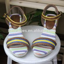 Frau Stitching Sandale Keil Sohle Spleißen