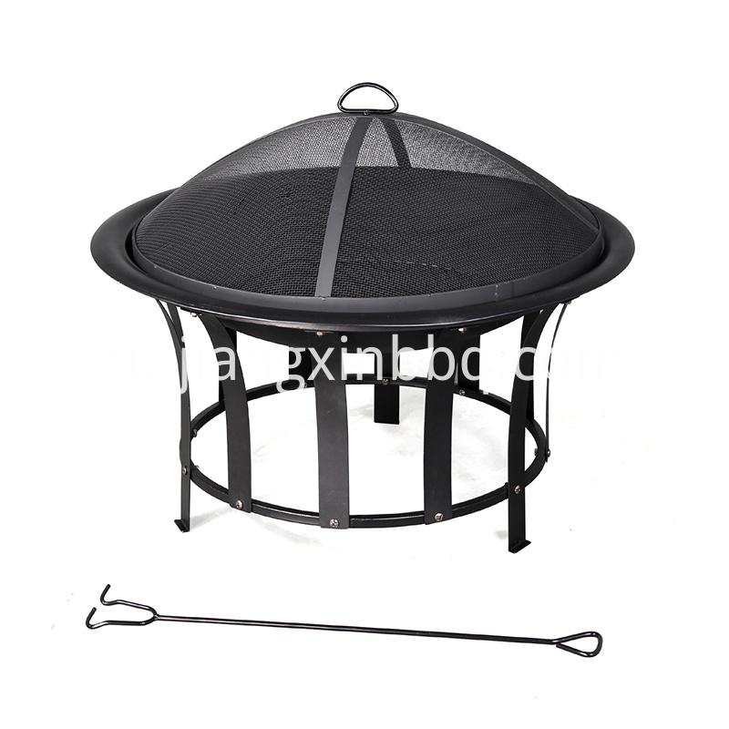 Sunjoy 30 In W Black Steel Wood Burning Fire Pit