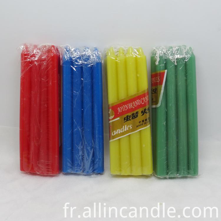 Candles In Cellophane Packing