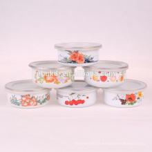 bol de glace personnalisé et bol de fleurs et bol en émail en gros