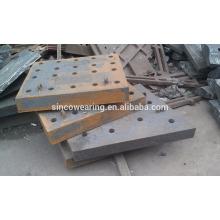 Präzisionsguss Stahl Chocky Bar und Verschleißplatte Cr26 Schutz der Eimer Zähne