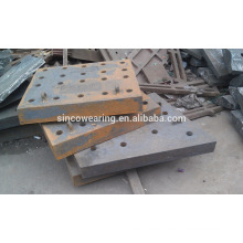Precision Casting Steel Chocky Bar and Wearing plate Cr26 protection of bucket teeth