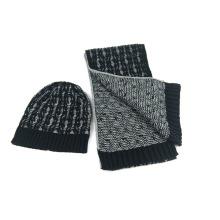 Mens Unisex Winter warme Schal Beanie Set Kabel gestrickte Schal (SK807S)