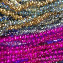 Pujiang cor de vidro revestido de vidro, grânulos de design mais recente para jóias, grânulos de alta qualidade do Japão, grânulos lisos cute